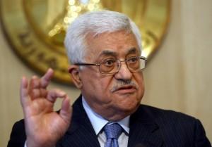Abbas in una conferenza stampa