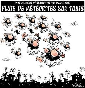 Meteoriti su Tunisi