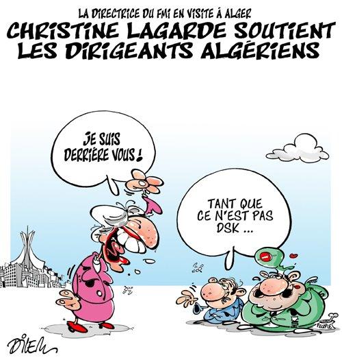 Christine Lagarde ad Algeri ....... di Ali Dilem